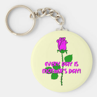 cute Mother's Day Basic Round Button Key Ring