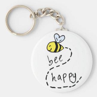 Cute Motivational Bee Keychain