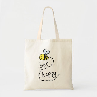 Cute Motivational Bee Tote Bag