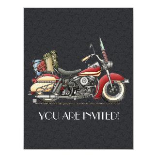 Cute Motorcycle 11 Cm X 14 Cm Invitation Card