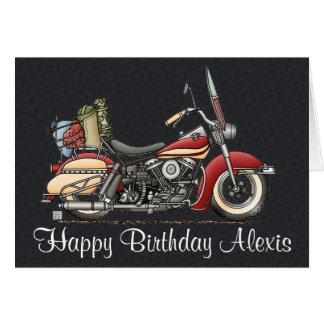 Cute Motorcycle Greeting Card