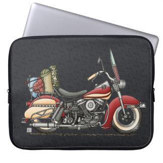 Cute Motorcycle Laptop Sleeve