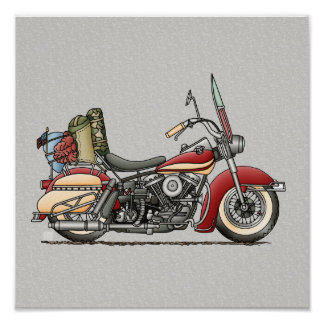 Cute Motorcycle Poster