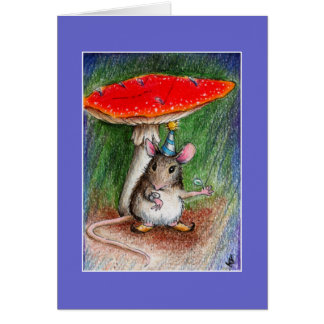 Cute mouse belated birthday card