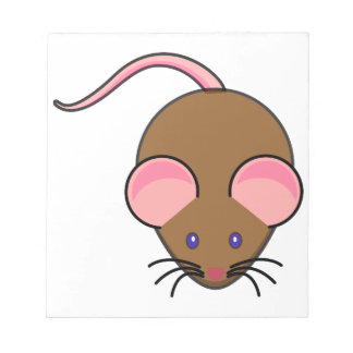 Cute mouse cartoon notepad