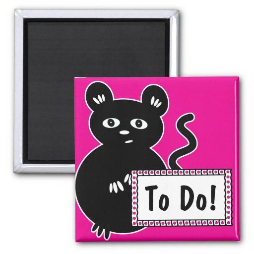 Cute Mouse Magnet To Do List for Fridge