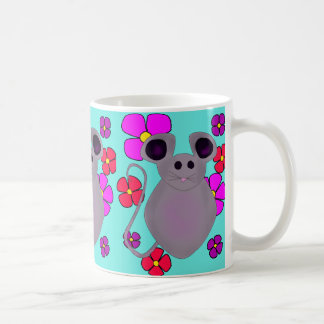 CUTE MOUSE MUG FLORAL PATTERN