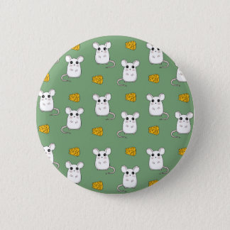 Cute Mouse pattern 6 Cm Round Badge