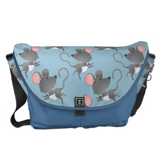 Cute Mouse Pattern Any Color Background Messenger Bags
