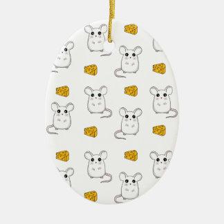 Cute Mouse pattern Ceramic Ornament