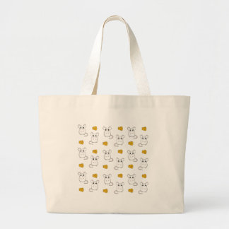 Cute Mouse pattern Large Tote Bag