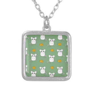 Cute Mouse pattern Silver Plated Necklace