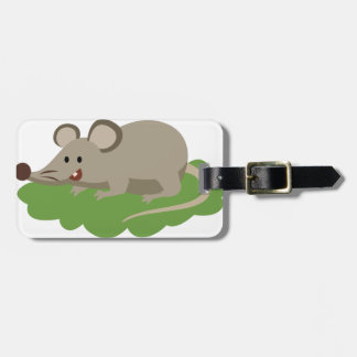 cute mouse rat luggage tag