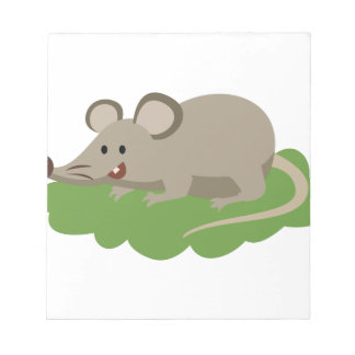 cute mouse rat notepad