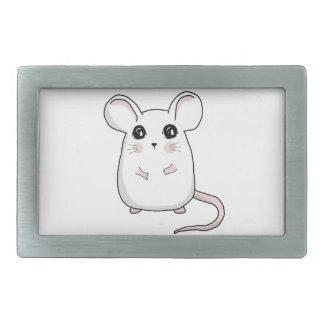 Cute Mouse Rectangular Belt Buckle