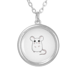 Cute Mouse Silver Plated Necklace