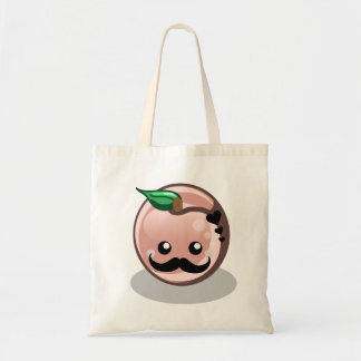 Cute Moustache Peach Tote Bag