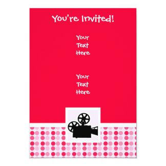 "Cute Movie Camera 5"" X 7"" Invitation Card"