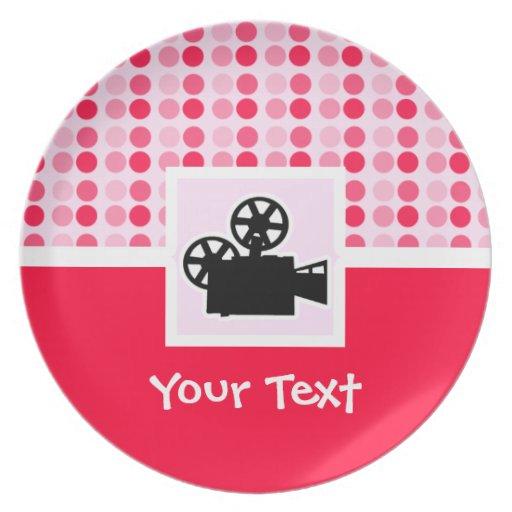 Cute Movie Camera Party Plates