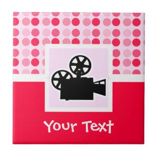Cute Movie Camera Ceramic Tile