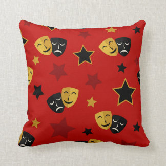 Cute movie theater home decor mask pattern pillow