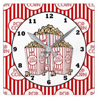 Cute Movie theater room popcorn clock