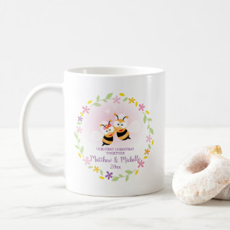 Cute Mr And Mrs Honey Bee First Christmas Keepsake Coffee Mug