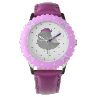 Cute Mrs Bird Purple Watch