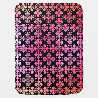 Cute multicolor fleur de lis pattern baby blanket