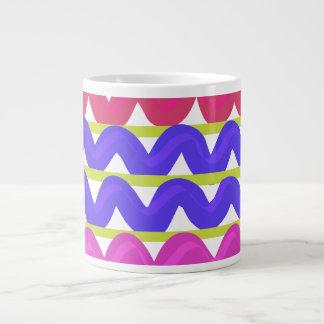 Cute Multicoloured chevron zigzag print jumbo mug