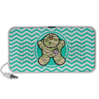 Cute Mummy; Aqua Green Chevron Travel Speaker