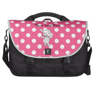 Cute mummy pink polka dots laptop bag