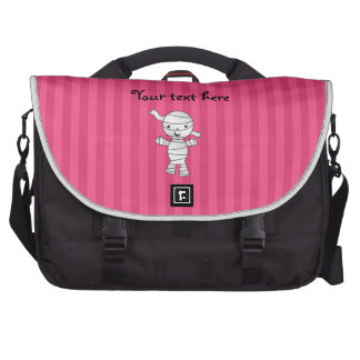 Cute mummy pink stripes bag for laptop