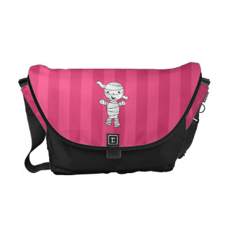 Cute mummy pink stripes courier bags