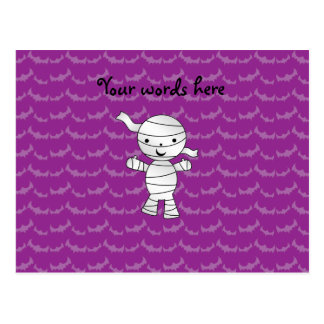 Cute mummy purple bats post cards