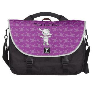 Cute mummy purple skulls commuter bags