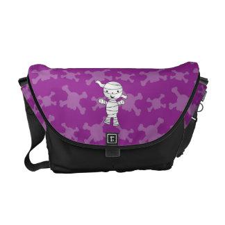 Cute mummy purple skulls courier bags