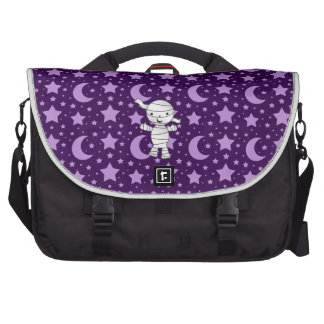 Cute mummy purple stars and moons pattern bags for laptop
