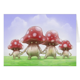 Cute Mushies Mushrooms card