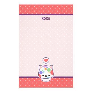 Cute Mushroom Cat Stationery Paper