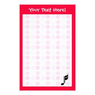 Cute Music Note Custom Stationery
