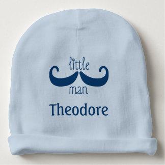 Cute Mustache Little Man Custom Personalized Baby Beanie