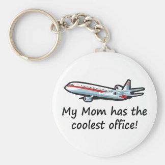 Cute My Mom's Airplane Office Keychain