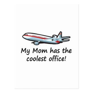 Cute My Mom's airplane office Postcard