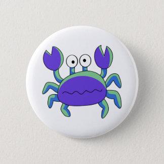 Cute N Chunky Blue Crab 6 Cm Round Badge