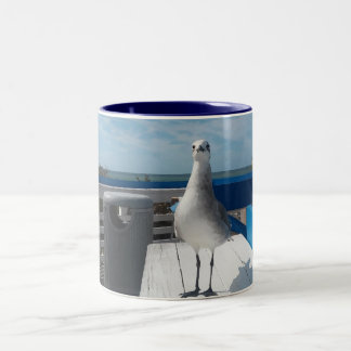 Cute Naples FL Seagull Print Coffee Mug