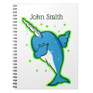 Cute Narwhal Dabbing Notebook