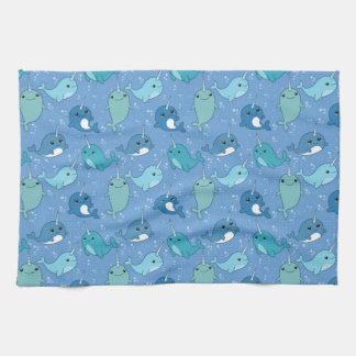 Cute Narwhal Pattern Tea Towel