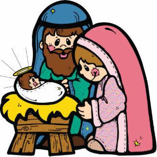 Cute Nativity Cut Out Pin
