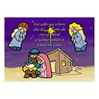 Cute Nativity Scene Business Card Templates